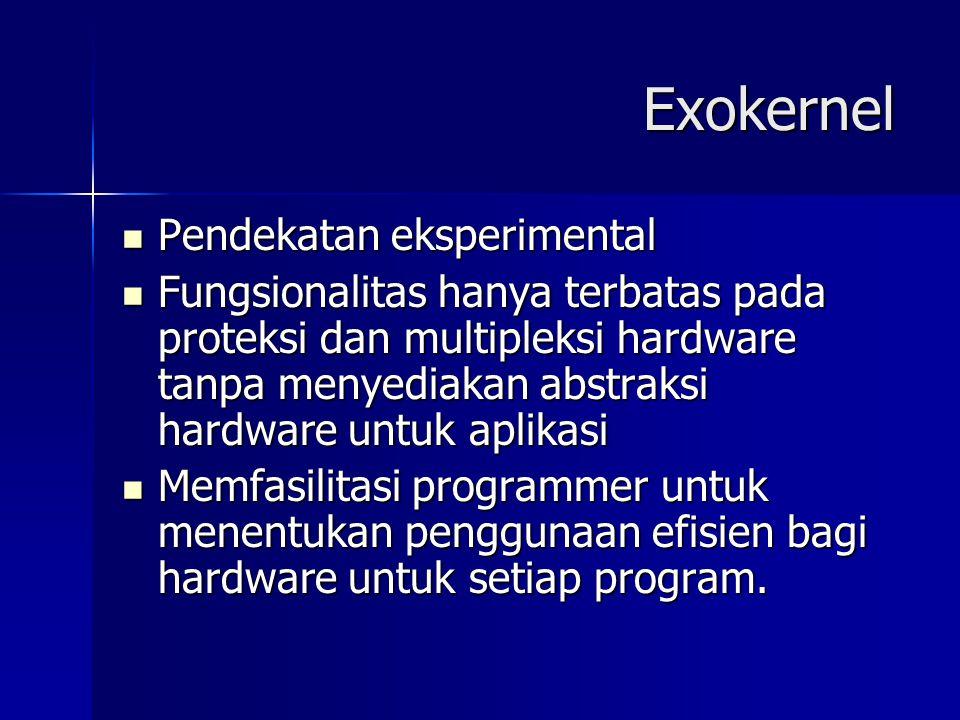 Exokernel Pendekatan eksperimental
