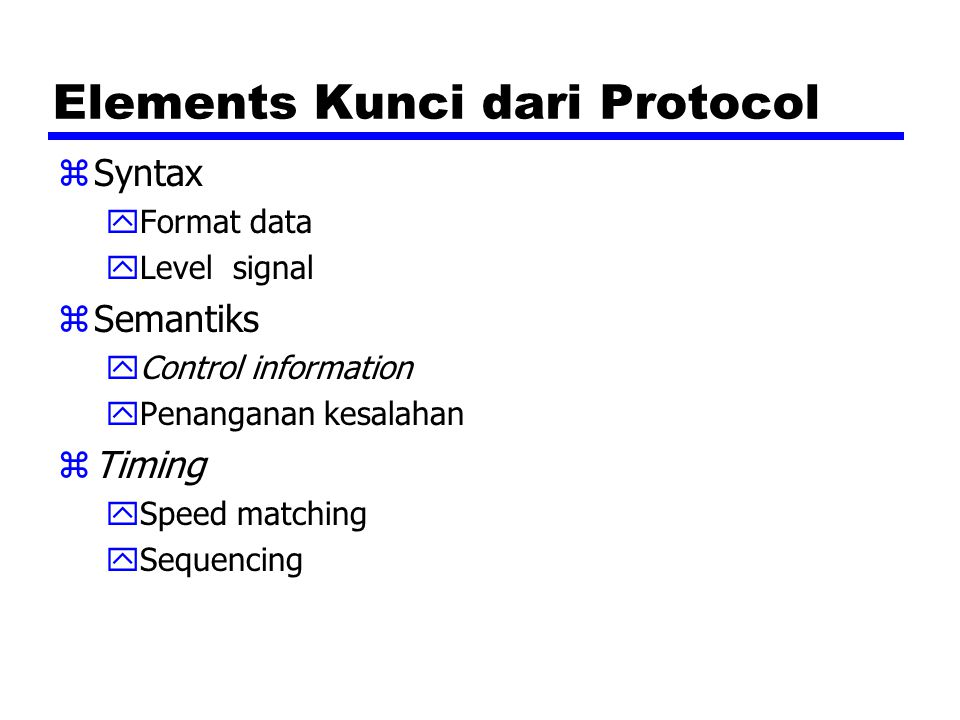 Elements Kunci dari Protocol