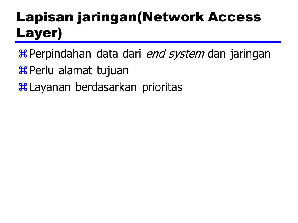 Lapisan jaringan(Network Access Layer)
