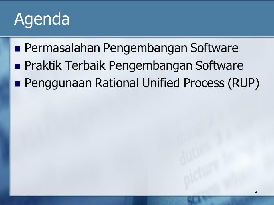 Agenda Permasalahan Pengembangan Software