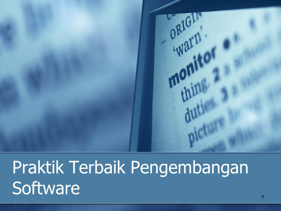 Praktik Terbaik Pengembangan Software