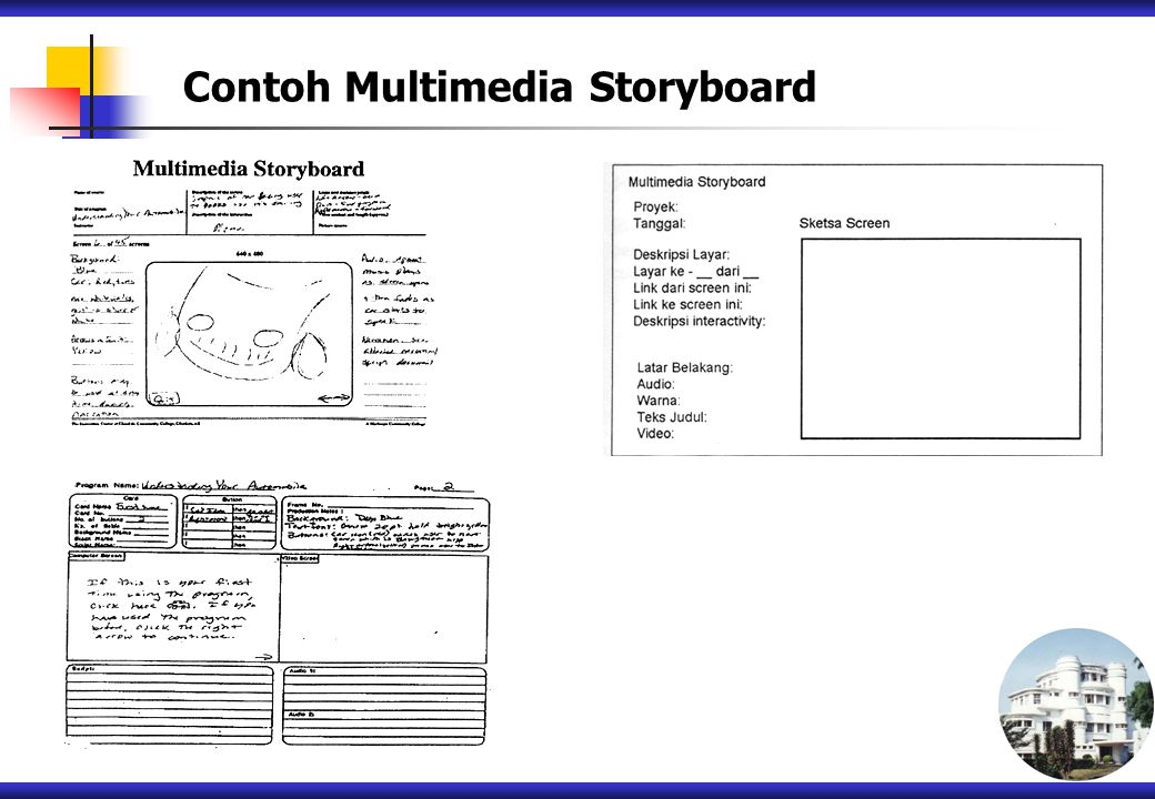 Contoh Multimedia Storyboard