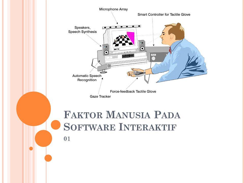 Faktor Manusia Pada Software Interaktif