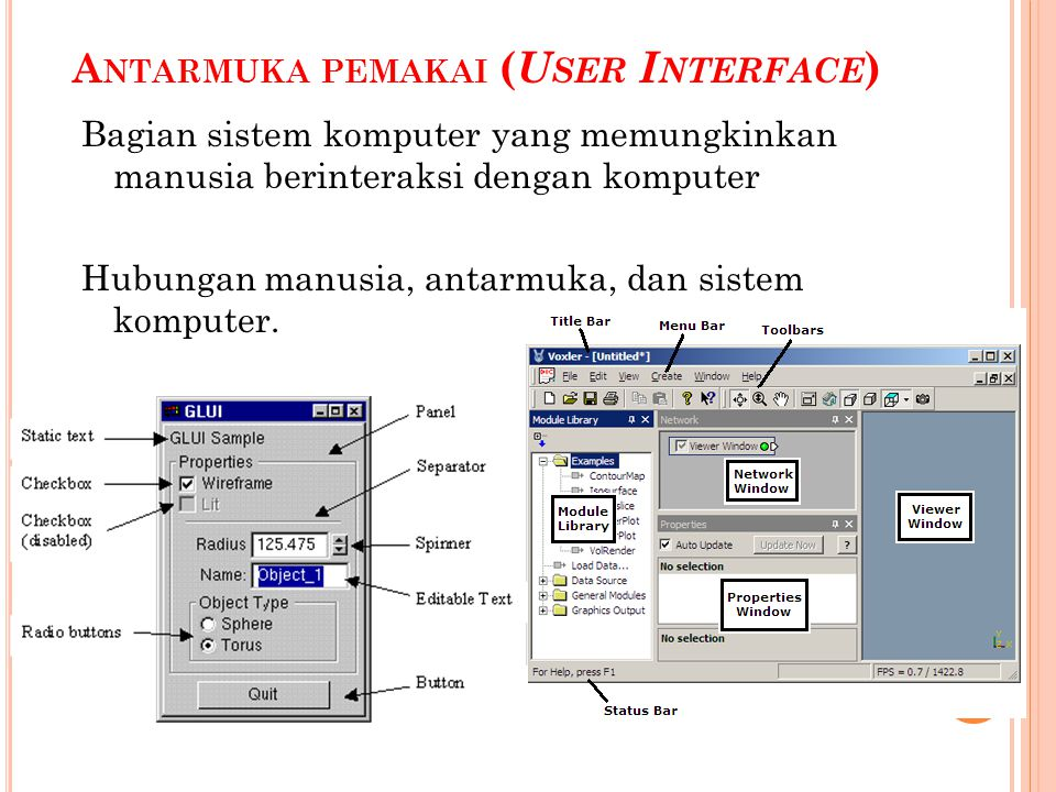 Antarmuka pemakai (User Interface)