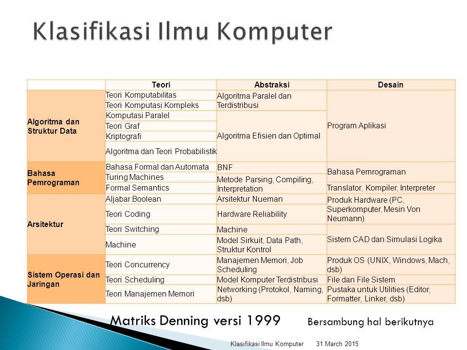 Klasifikasi Ilmu Komputer