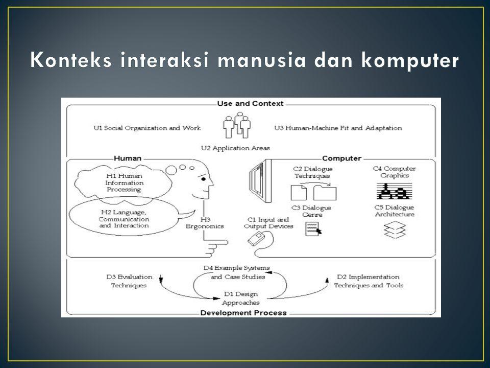 Konteks interaksi manusia dan komputer