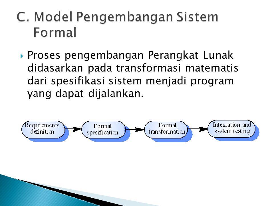 C. Model Pengembangan Sistem Formal