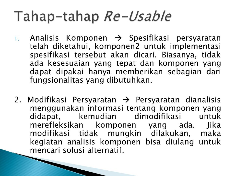 Tahap-tahap Re-Usable