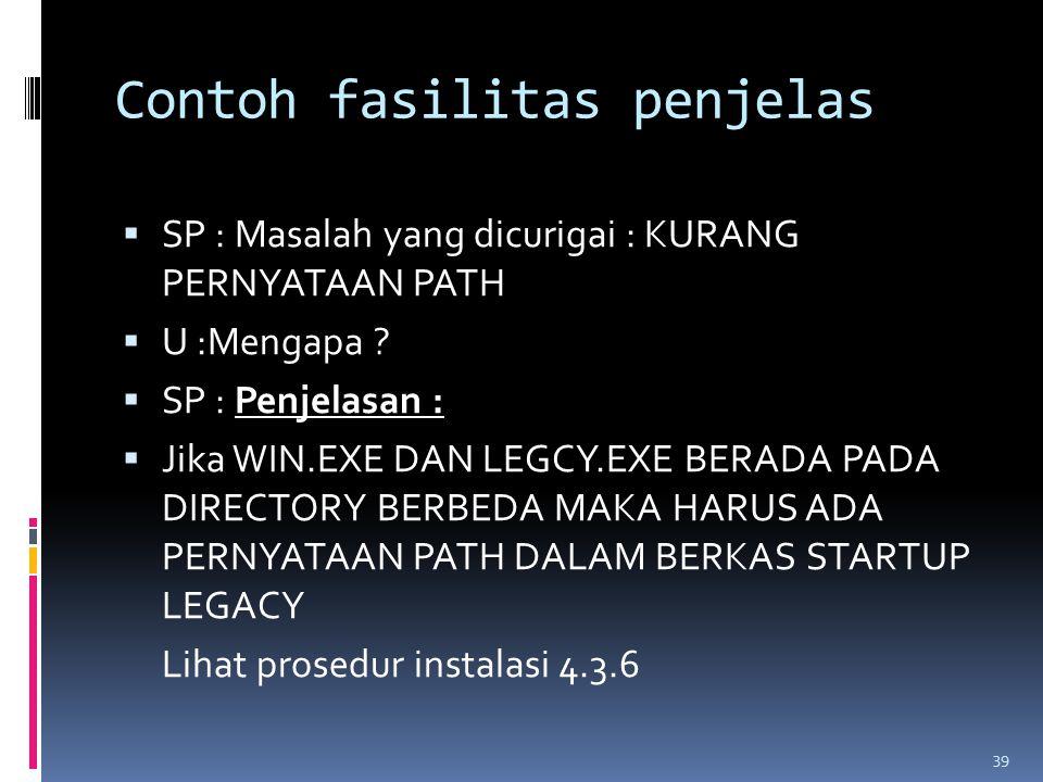 Contoh fasilitas penjelas