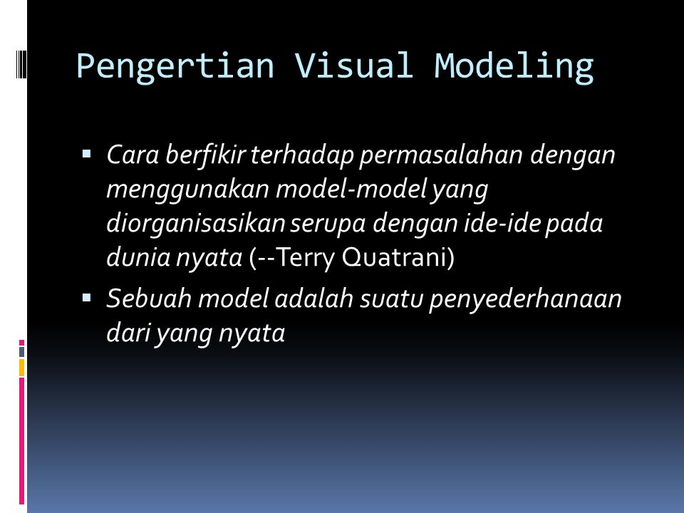 Pengertian Visual Modeling