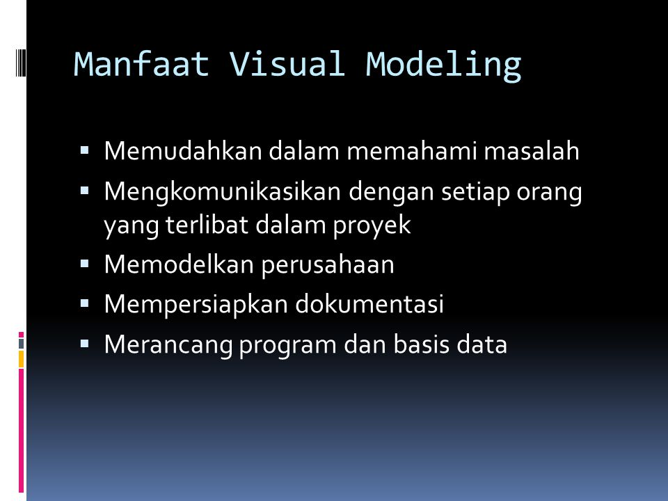 Manfaat Visual Modeling