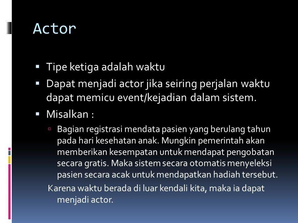 Actor Tipe ketiga adalah waktu