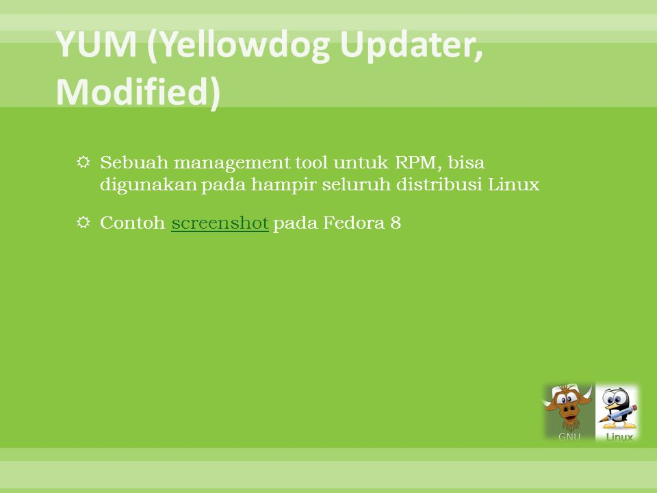 YUM (Yellowdog Updater, Modified)