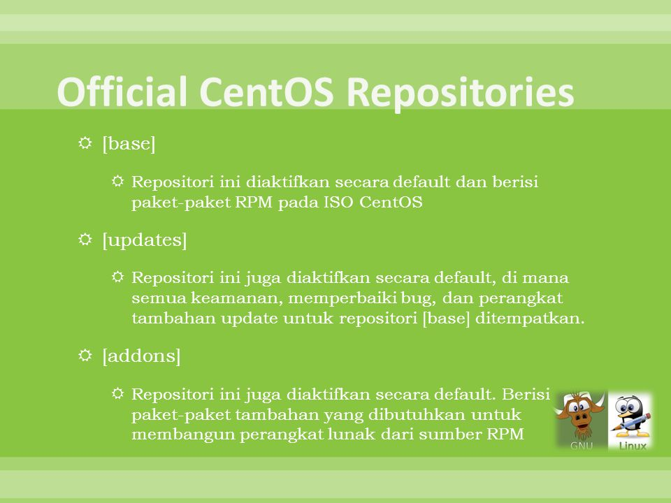 Official CentOS Repositories