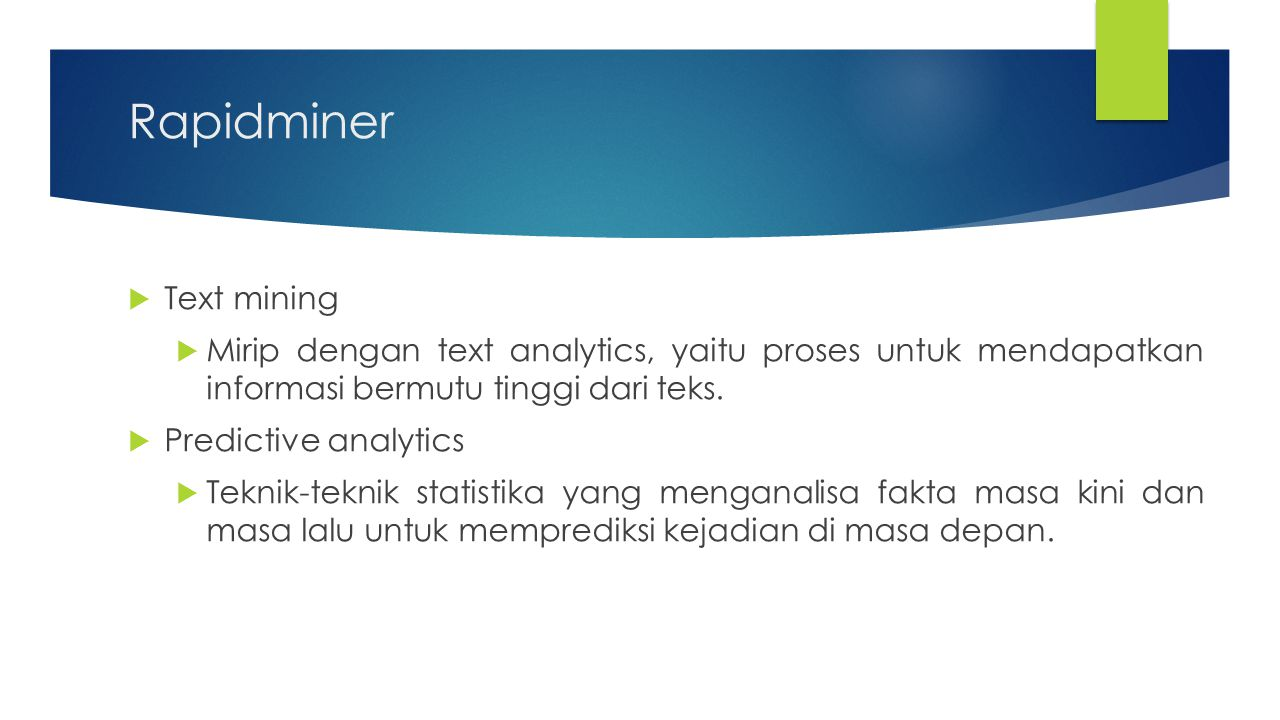 Rapidminer Text mining