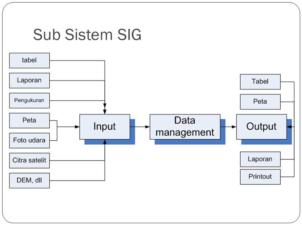 Sub Sistem SIG