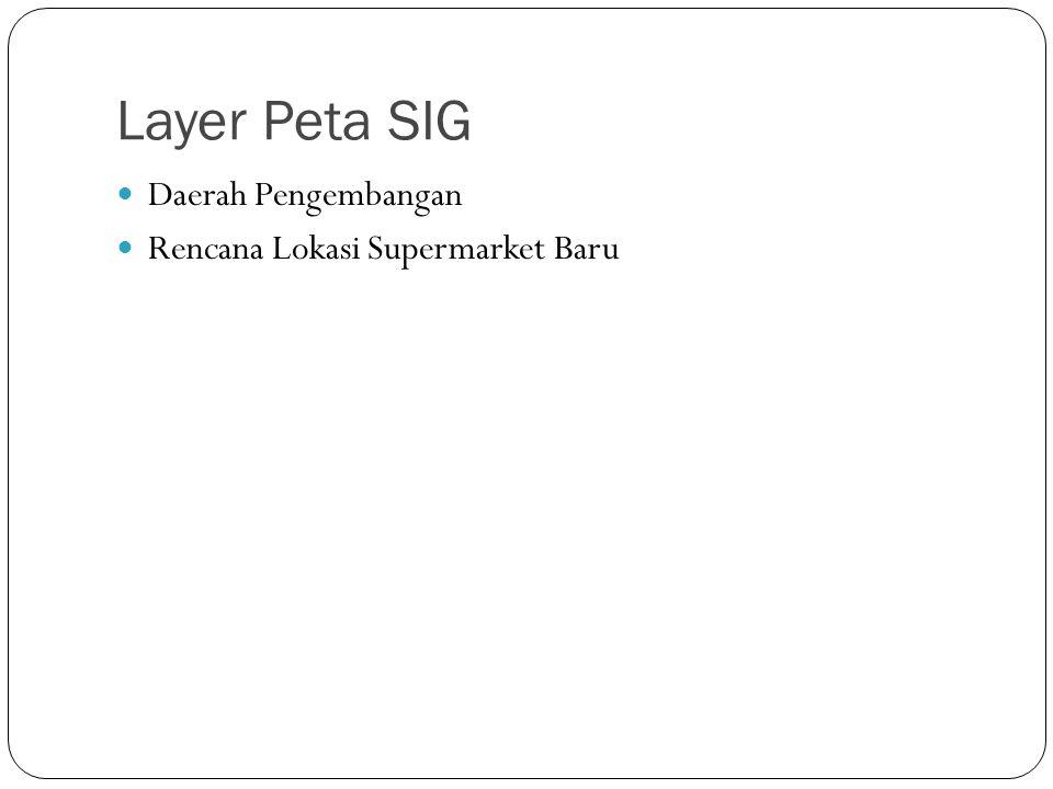 Layer Peta SIG Daerah Pengembangan Rencana Lokasi Supermarket Baru