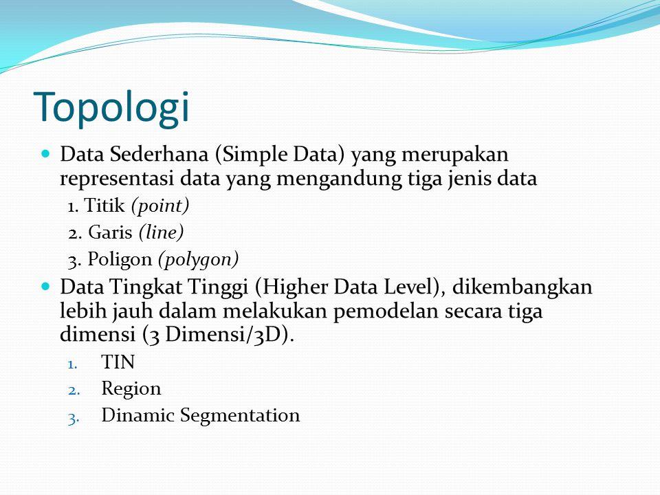 Topologi Data Sederhana (Simple Data) yang merupakan representasi data yang mengandung tiga jenis data.