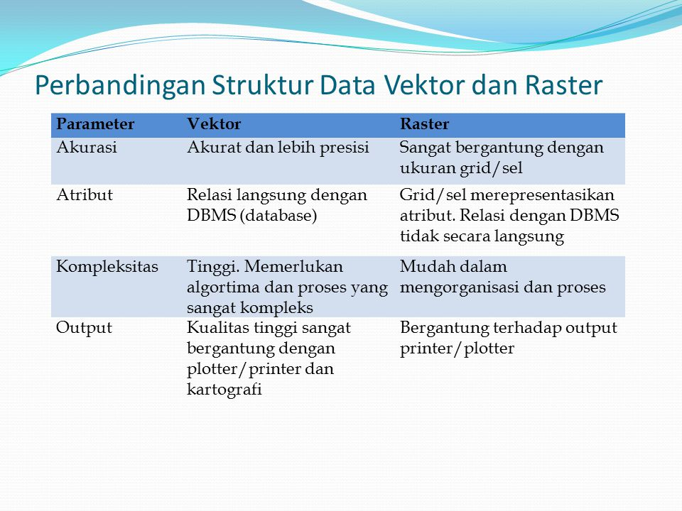 Perbandingan Struktur Data Vektor dan Raster