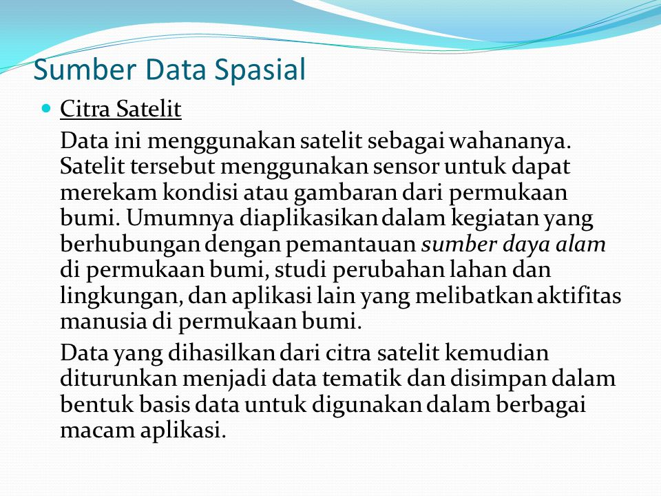 Sumber Data Spasial Citra Satelit