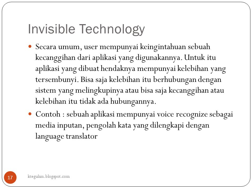 Invisible Technology
