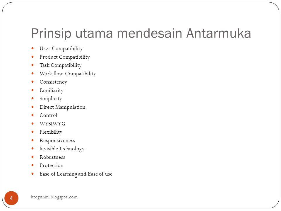 Prinsip utama mendesain Antarmuka