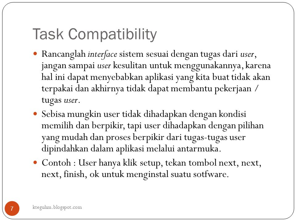 Task Compatibility
