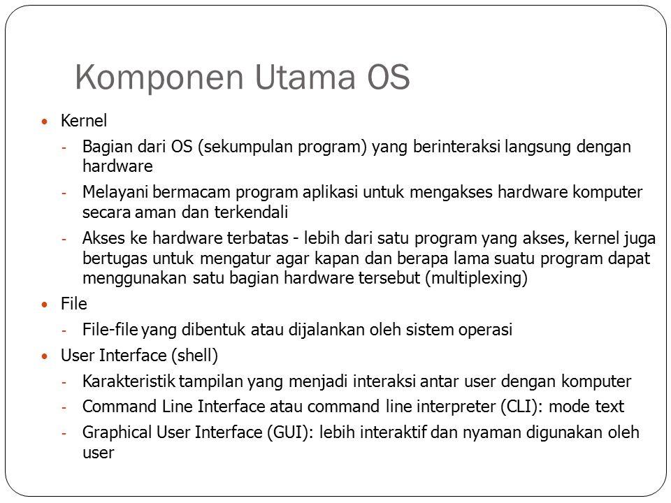 Komponen Utama OS Kernel