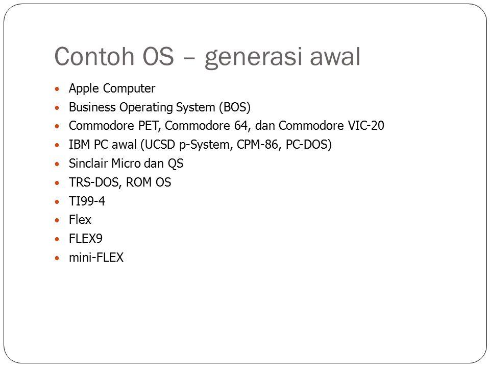 Contoh OS – generasi awal