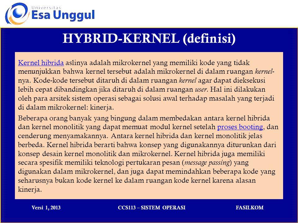 HYBRID-KERNEL (definisi)
