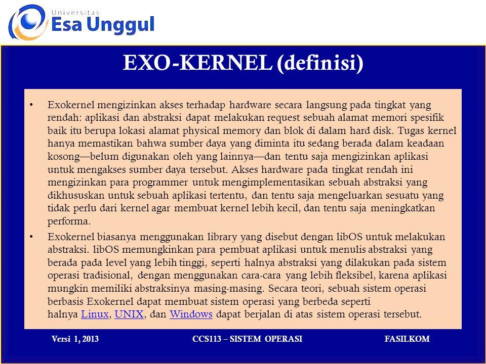 EXO-KERNEL (definisi)