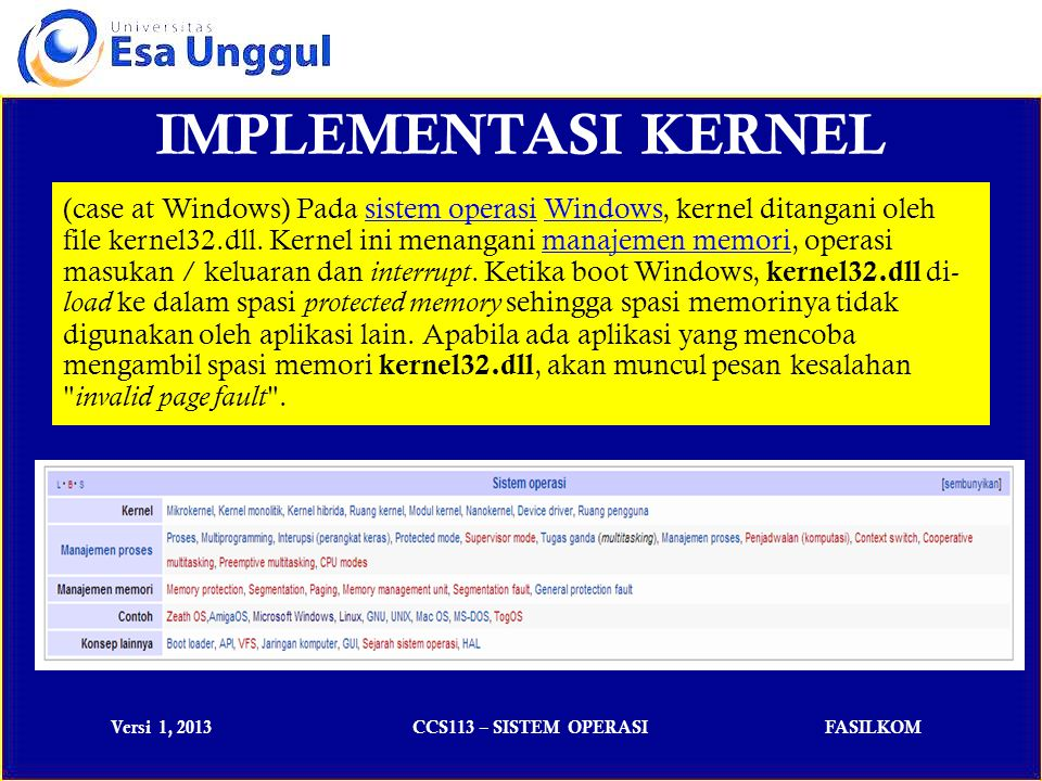 IMPLEMENTASI KERNEL