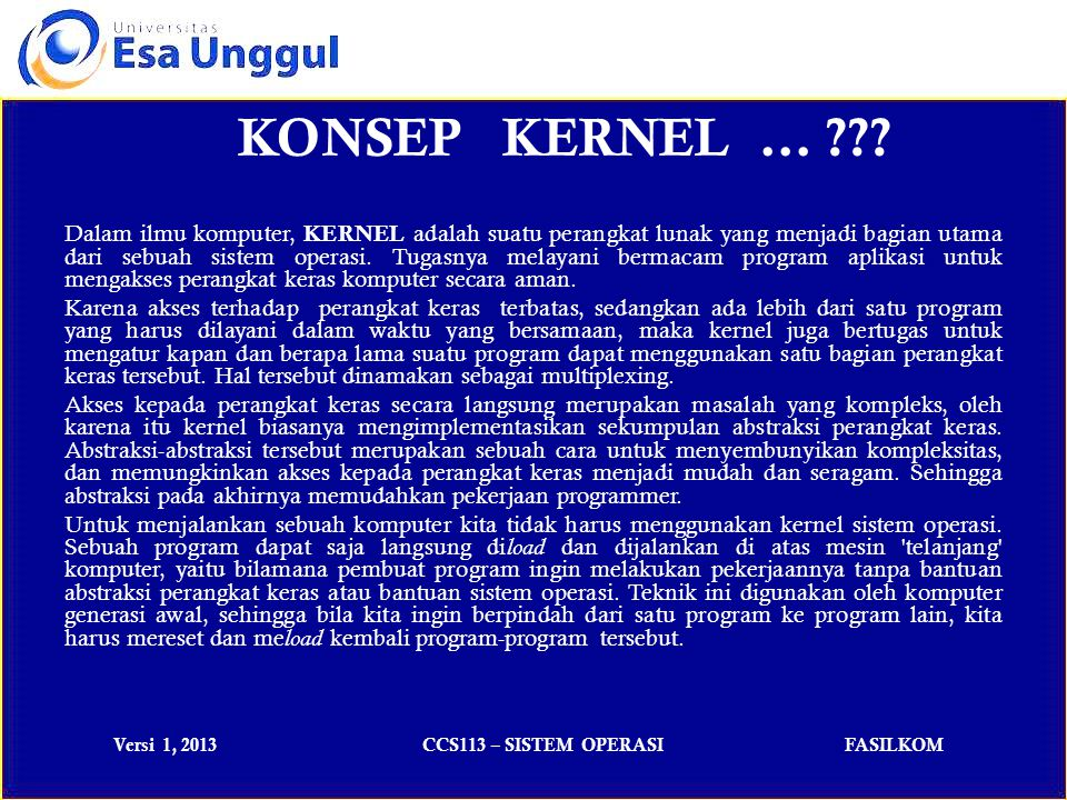 KONSEP KERNEL …