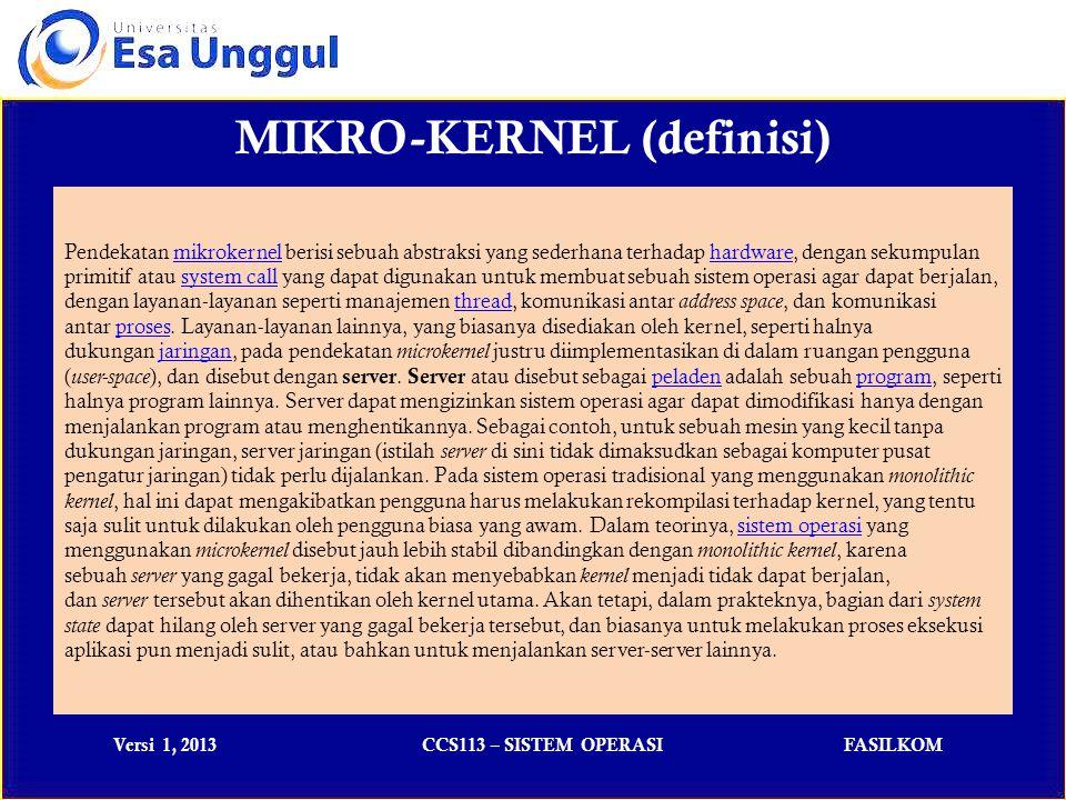 MIKRO-KERNEL (definisi)