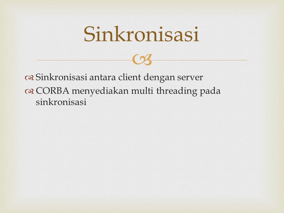 Sinkronisasi Sinkronisasi antara client dengan server