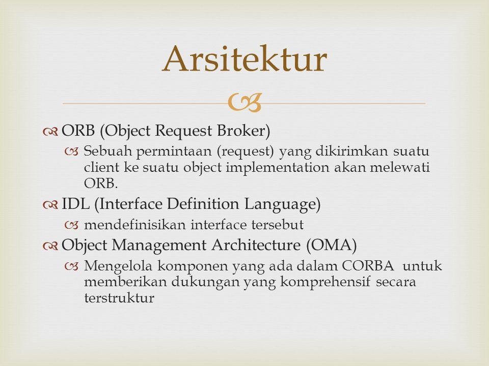 Arsitektur ORB (Object Request Broker)