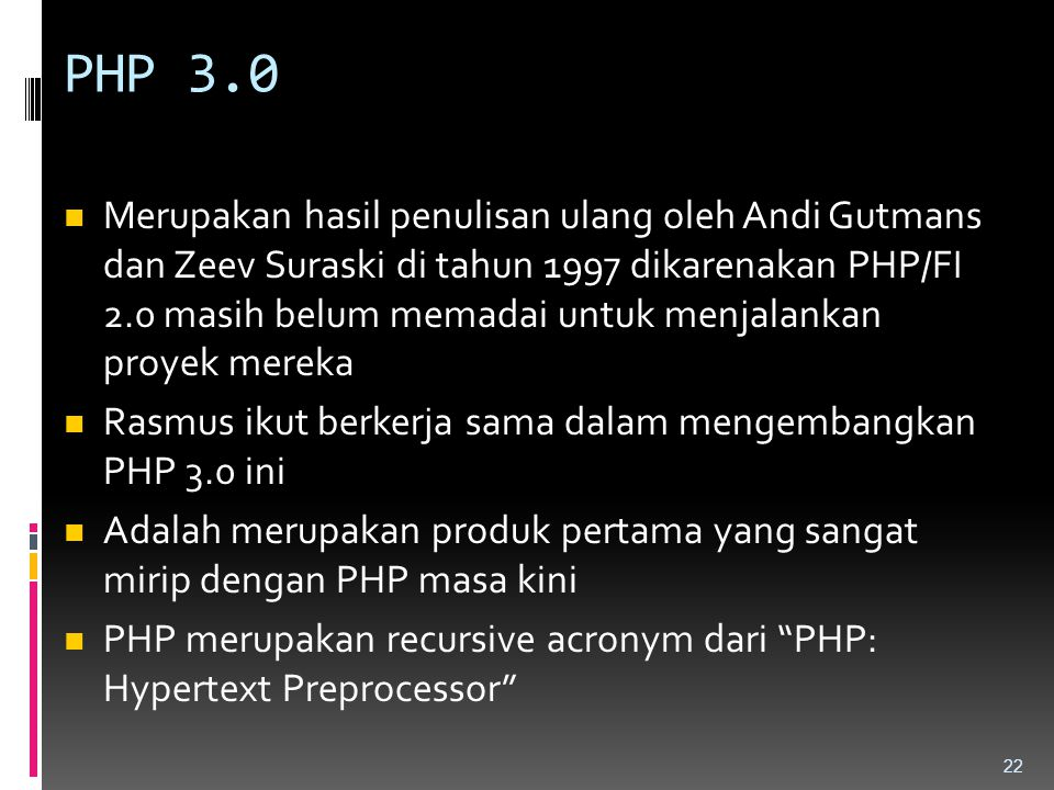 PHP 3.0
