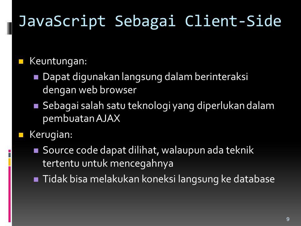 JavaScript Sebagai Client-Side