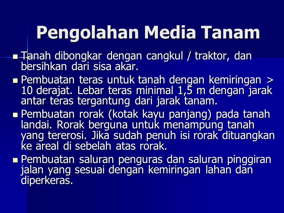 Pengolahan Media Tanam