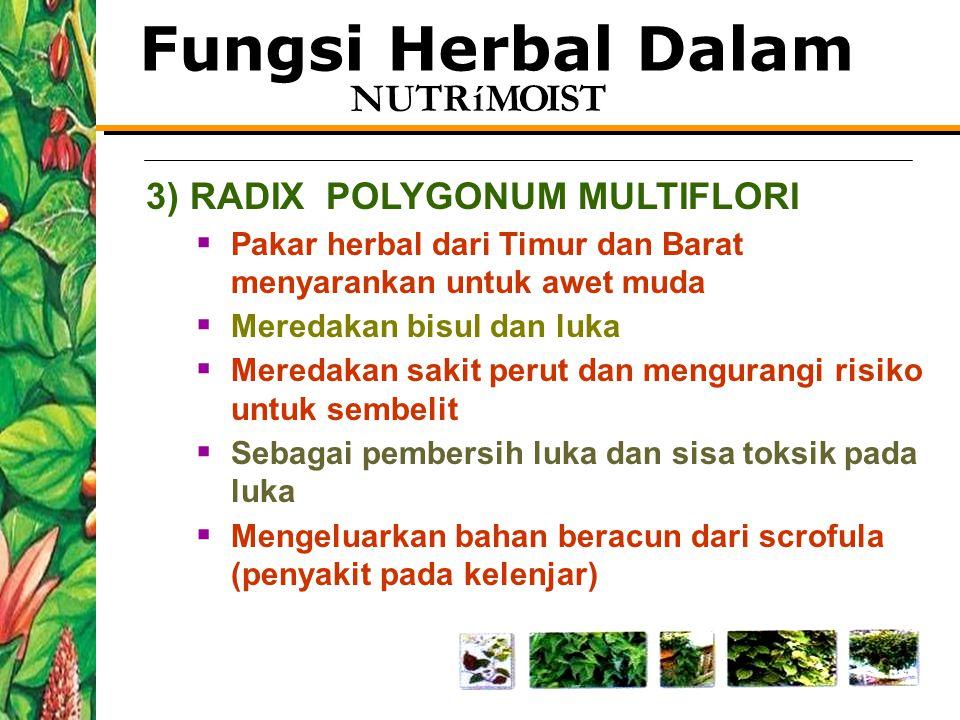 Fungsi Herbal Dalam 3) RADIX POLYGONUM MULTIFLORI