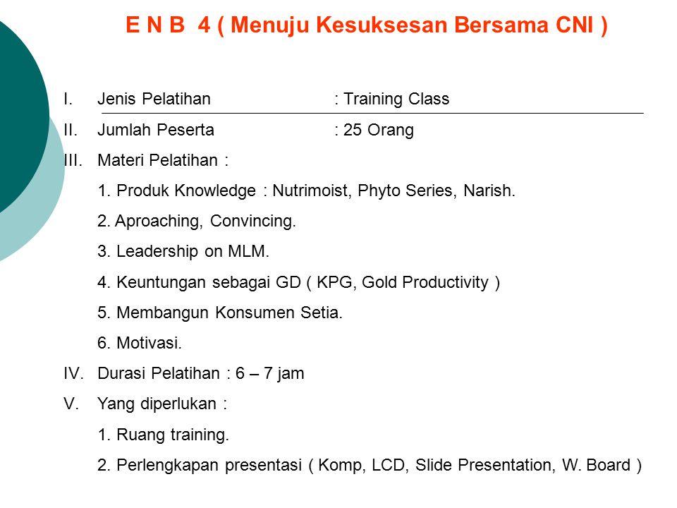 E N B 4 ( Menuju Kesuksesan Bersama CNI )