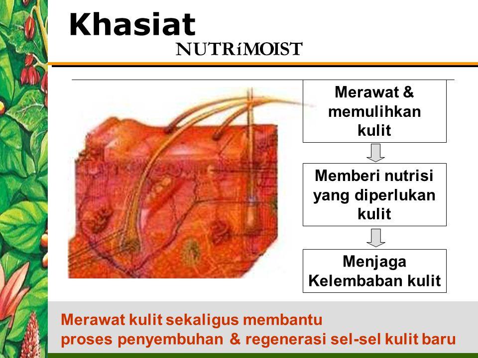 Memberi nutrisi yang diperlukan kulit Menjaga Kelembaban kulit