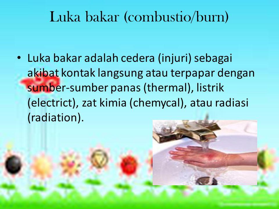 Luka bakar (combustio/burn)