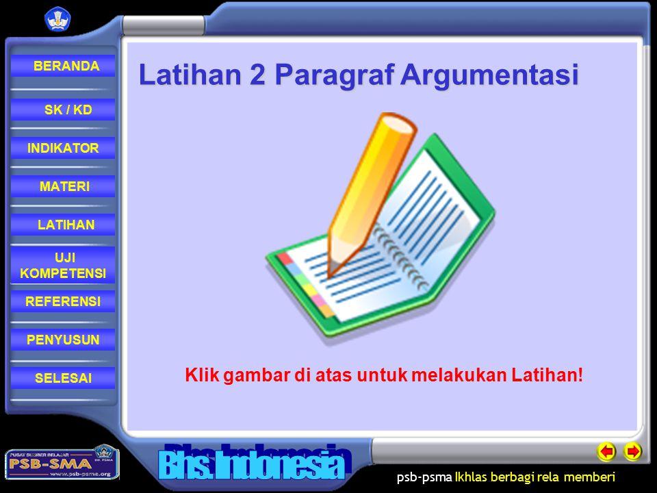Latihan 2 Paragraf Argumentasi