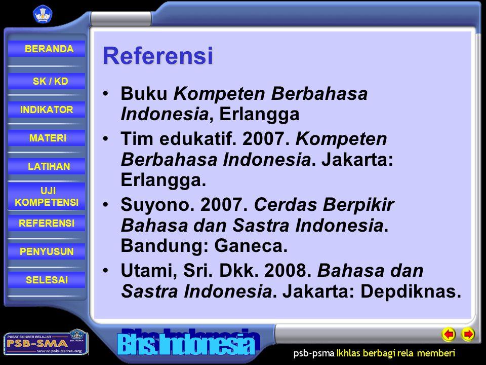 Referensi Buku Kompeten Berbahasa Indonesia, Erlangga