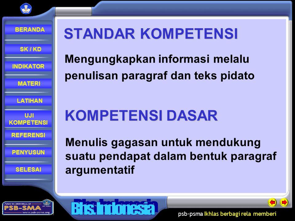 STANDAR KOMPETENSI KOMPETENSI DASAR Mengungkapkan informasi melalu