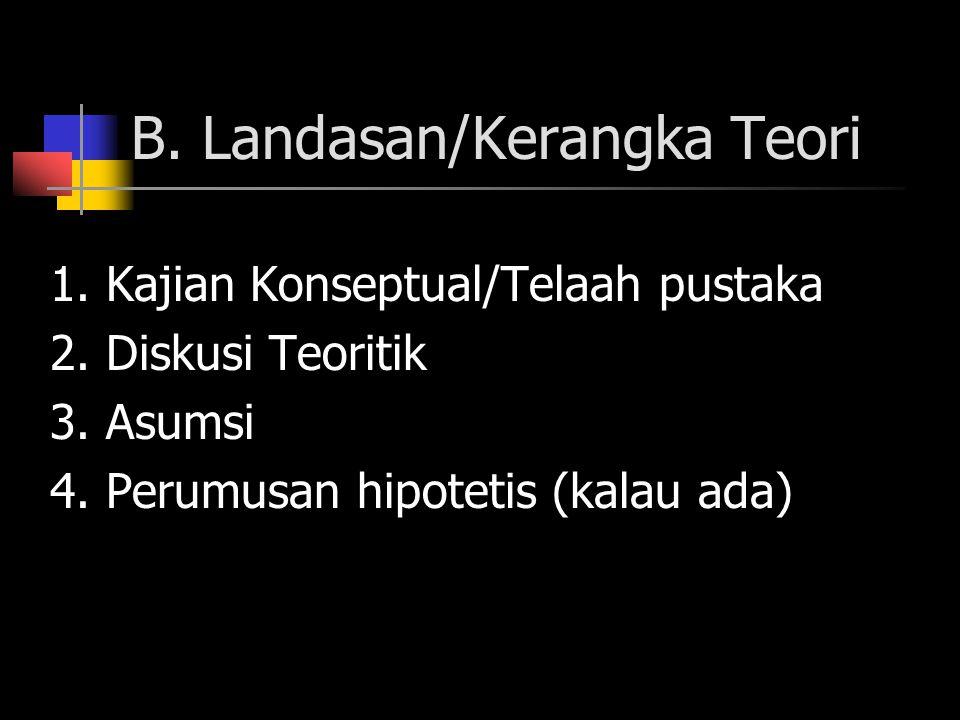 B. Landasan/Kerangka Teori