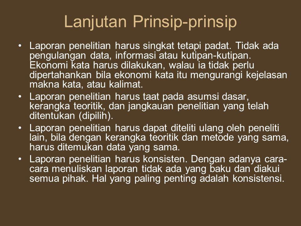 Lanjutan Prinsip-prinsip