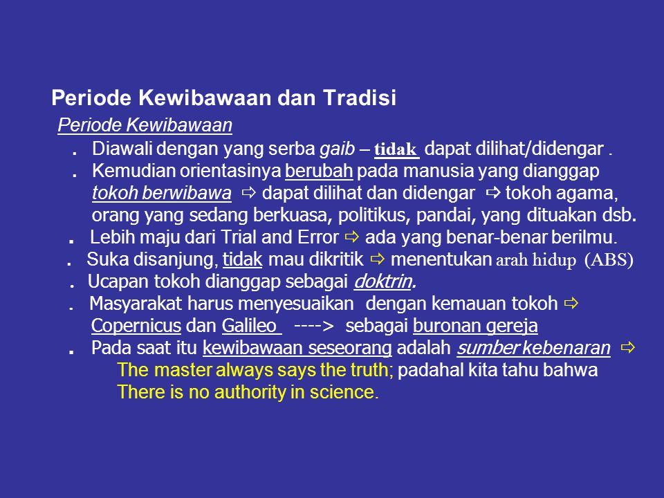 Ilmu Pengetahuan dan Kebenaran ……
