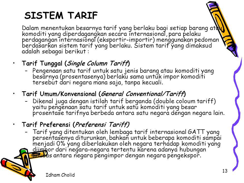 SISTEM TARIF